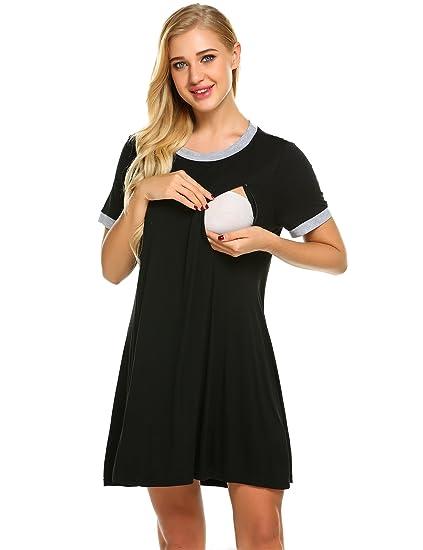 8c53ac3a105 Ekouaer Women Maternity Nursing Nightgowns