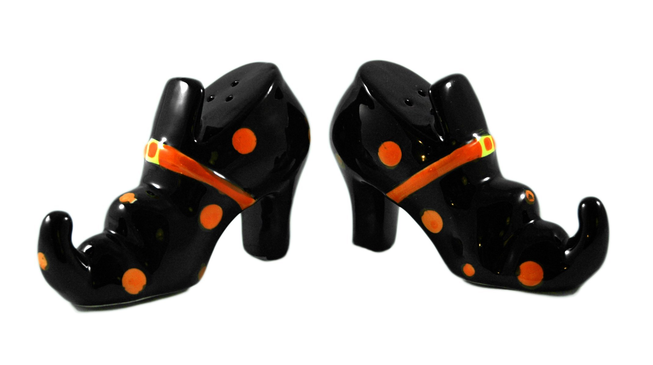 Wicked Witch Shoe Ceramic Salt & Pepper Shakers