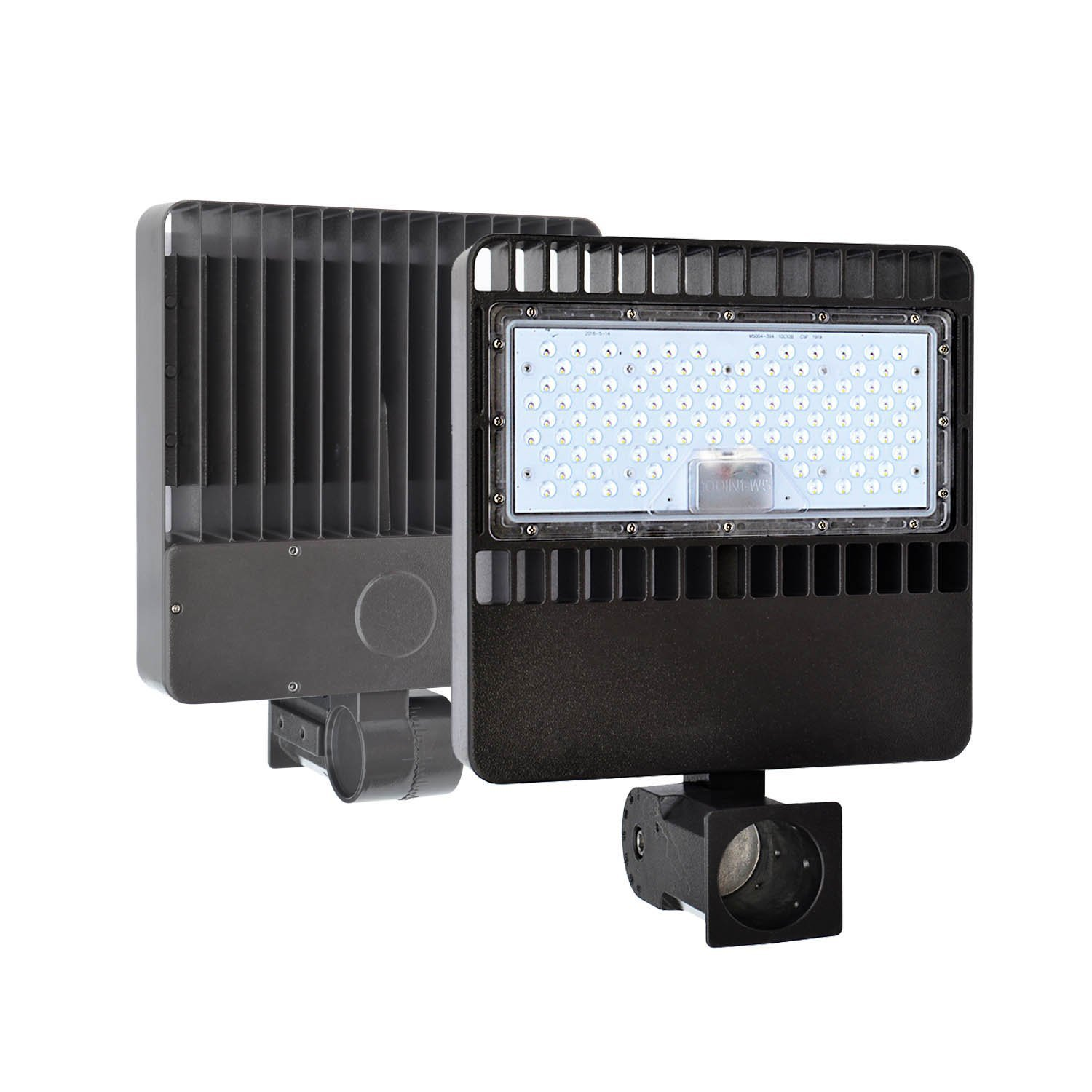 LED Shoebox Pole Light 150W (500W Equal HID/HPS Replacement) and 0-10V Dimmable ,Daylight White 5000K ETL DLC Listed with Slip Fitter Adjustable Mount for Parking Lot Outdoor Street Area Light