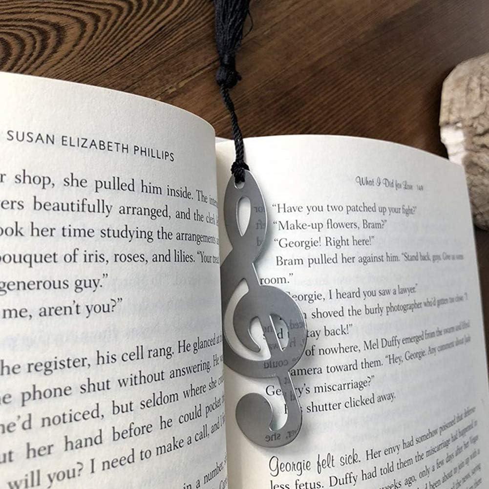 fast-shop Metal Hollow Musical Notes Bookmarks Elegant Silk Tassel ...