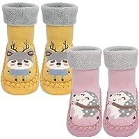 Calcetines Antideslizantes Para Bebés Algodón Grueso y Cálido Bonitos Calcetines Deportivos Para Niños y Niñas…