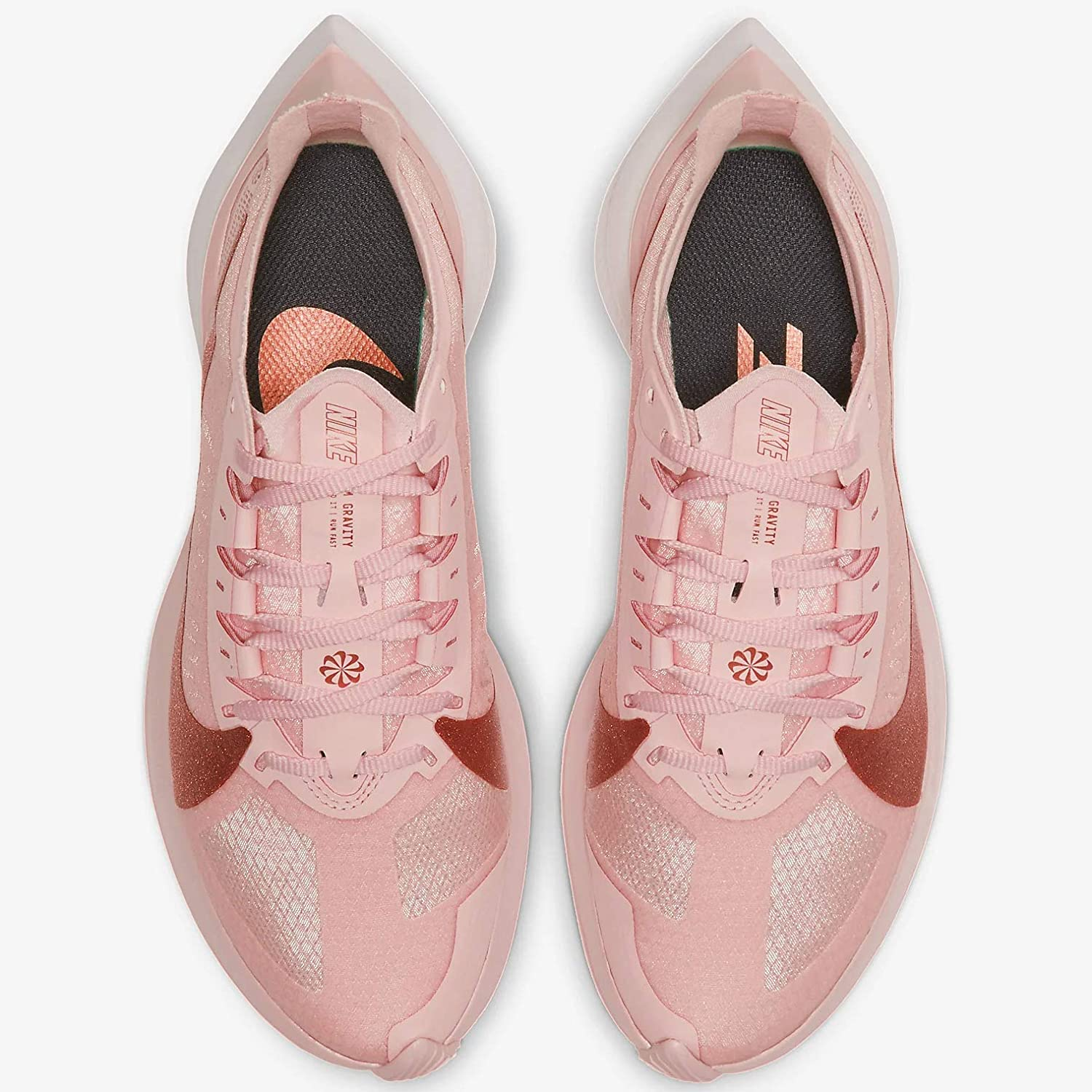 Nike Women's Zoom Gravity Holiday Sparkle Running Shoes Echo Pink/Mtlc Red Bronze-oil Grey