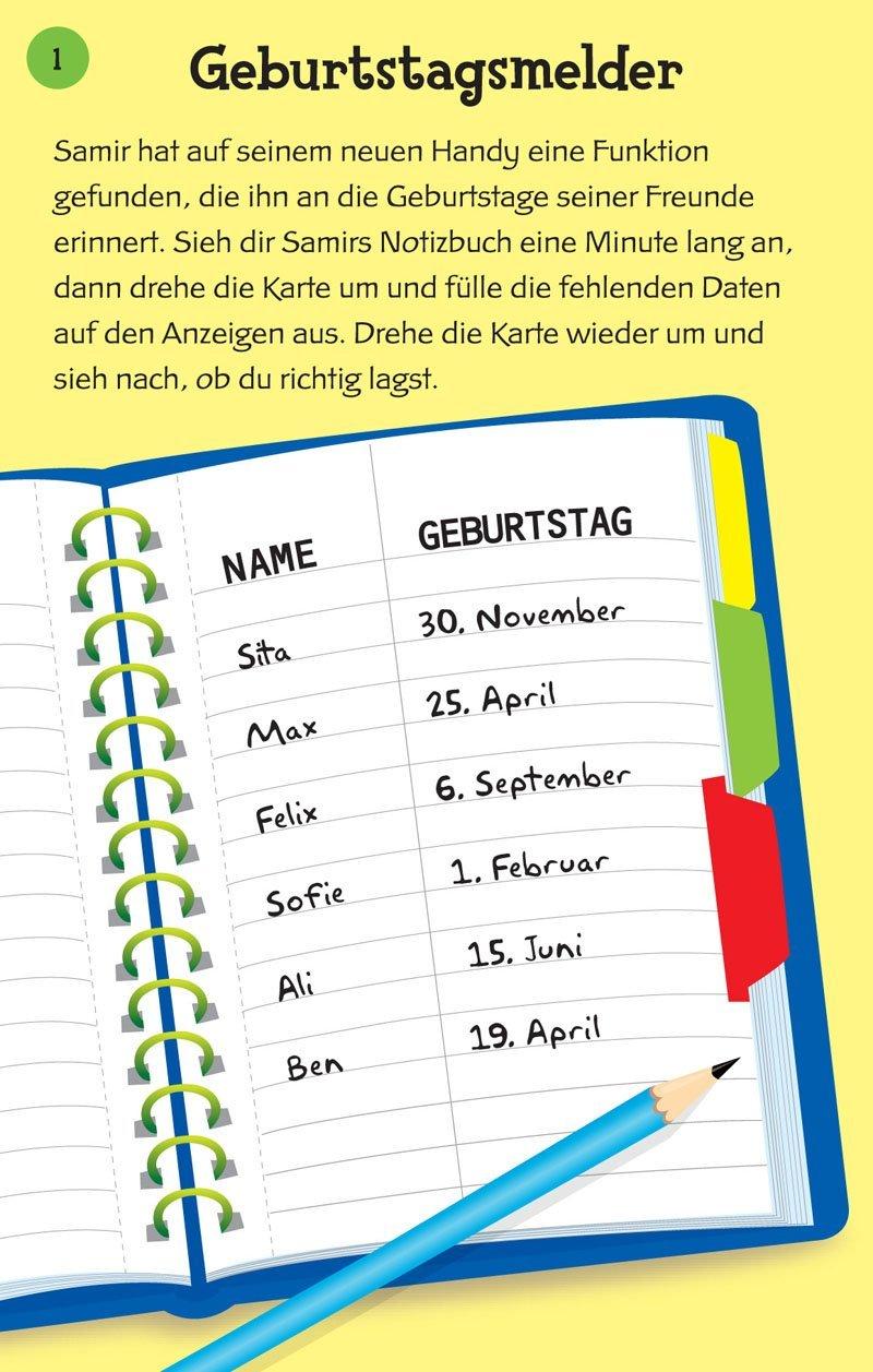 Ged/ächtnisspiele mit abwischbarem Stift /& 50 Karten