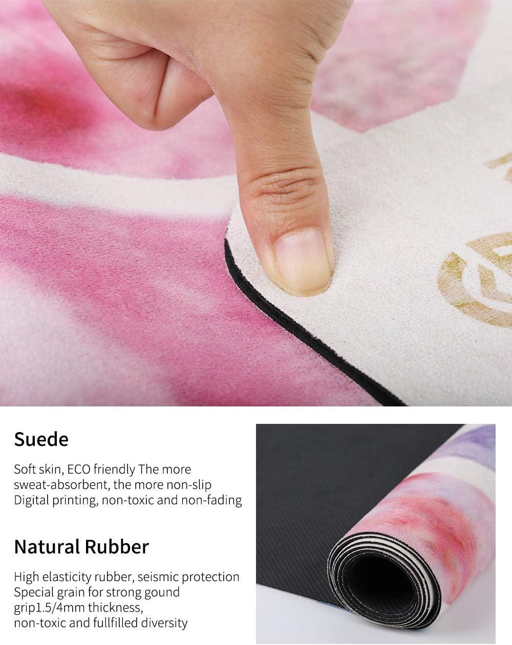 GOLDEN/® Reise Yogamatte 1,5mm 4mm Zu Hause Waschbar Faltbare 2 in 1 Handtuch,rutschfest Naturkautschuk