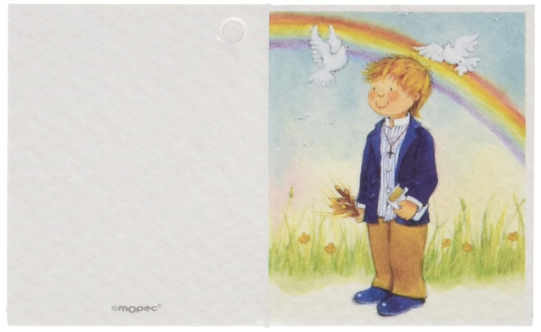 Mopec Tarjeta librito de Comunión de niño con un Arco Iris ...