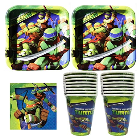 Amazon 832 Teenage Mutant Ninja Turtles Birthday Party Set Supplies Pack For 16 Guests