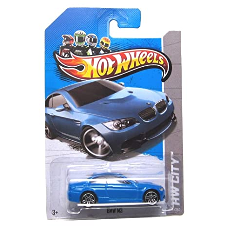 Amazon Com Hot Wheels 2013 Bmw M3 Blue Hw City 7 250 1 64