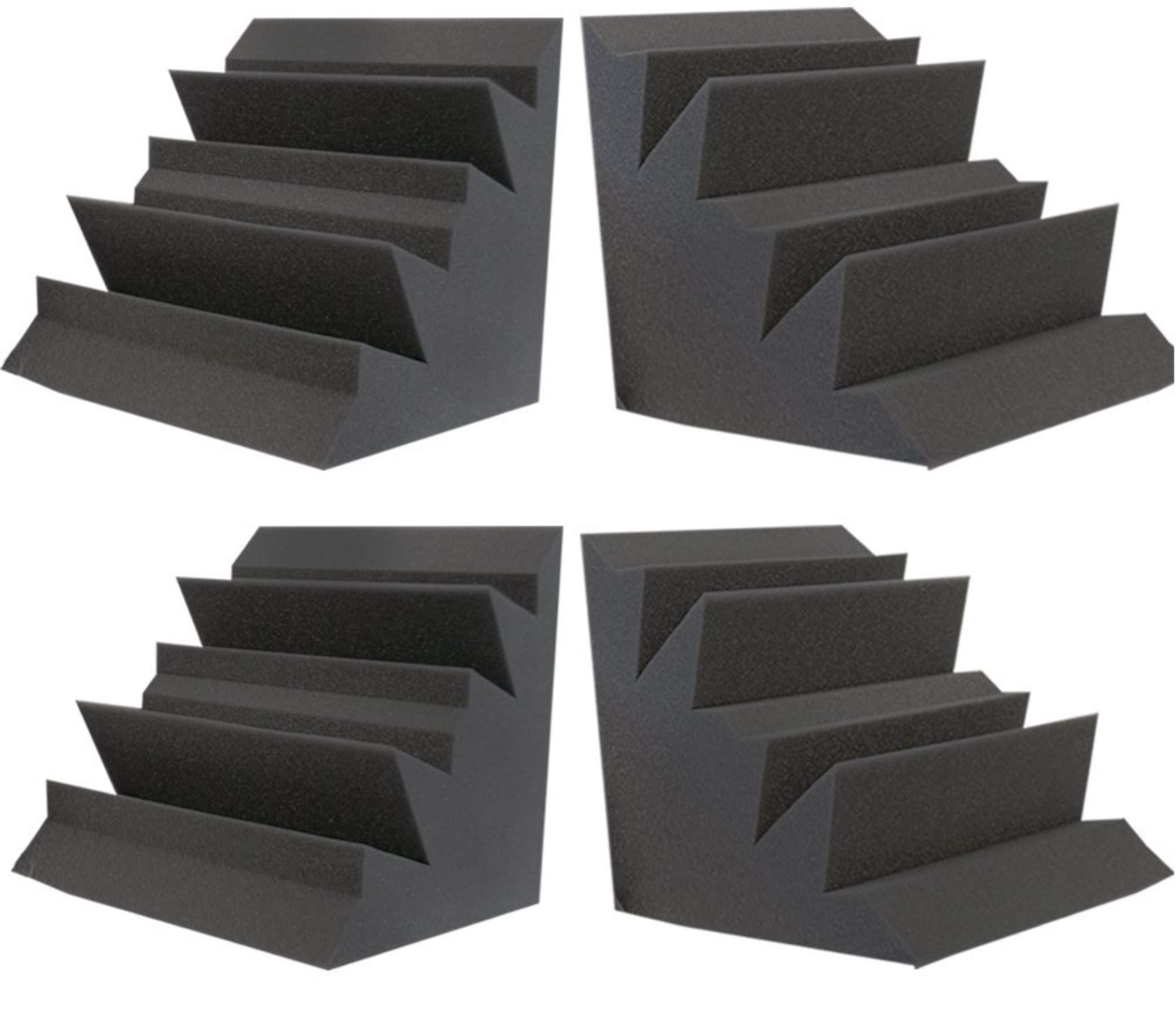 Foamily Acoustic Foam XL Bass Trap Studio Soundproofing Corner Wall 12'' X 12'' X 12'' (4 PACK)