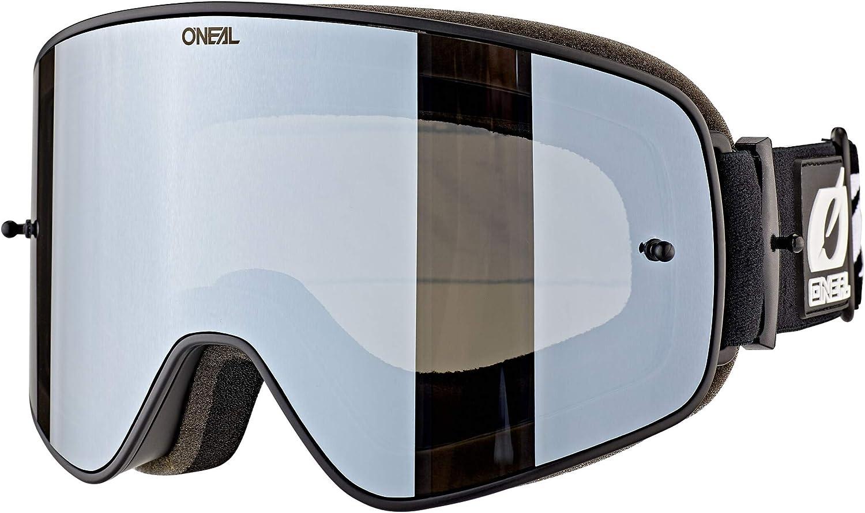 O Neal B50 Force Pro Pack Goggle Mx Dh Brille Schwarz Mirror Silberfarben Oneal Sport Freizeit