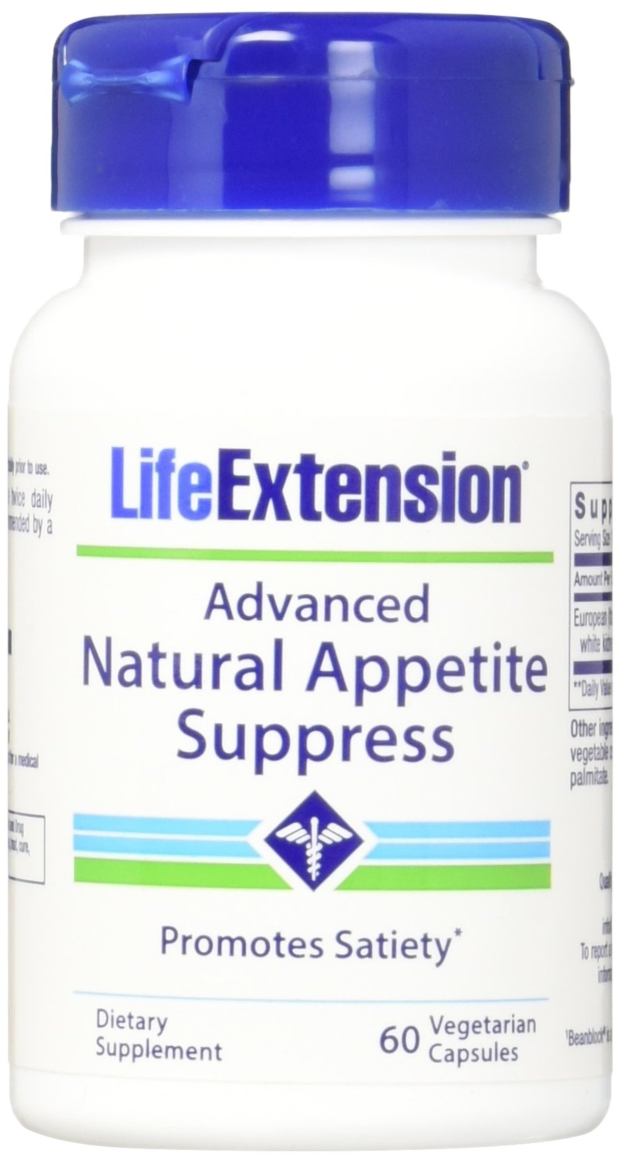Life Extension Advanced Natural Appetite Suppress Vegetarian Capsules, 60 Count