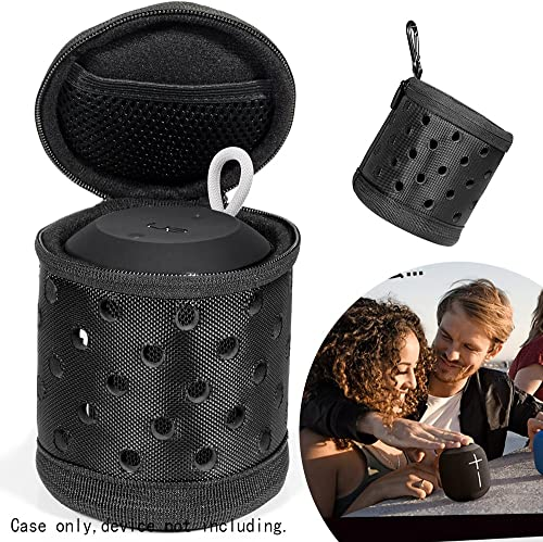 Alltravel Protective Case for Logitech Ultimate Ears WONDERBOOM Super Portable Waterproof, Featured Portable Sound Through Design, Tailor Made Easy to go Carabiner, Play in case with Good Protection