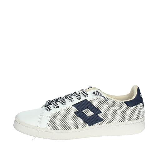 23cb300b8b15c Lotto Sneaker Tessuto Tecnico e Pelle con para in Gomma e Logo Laterale   MainApps  Amazon.it  Scarpe e borse