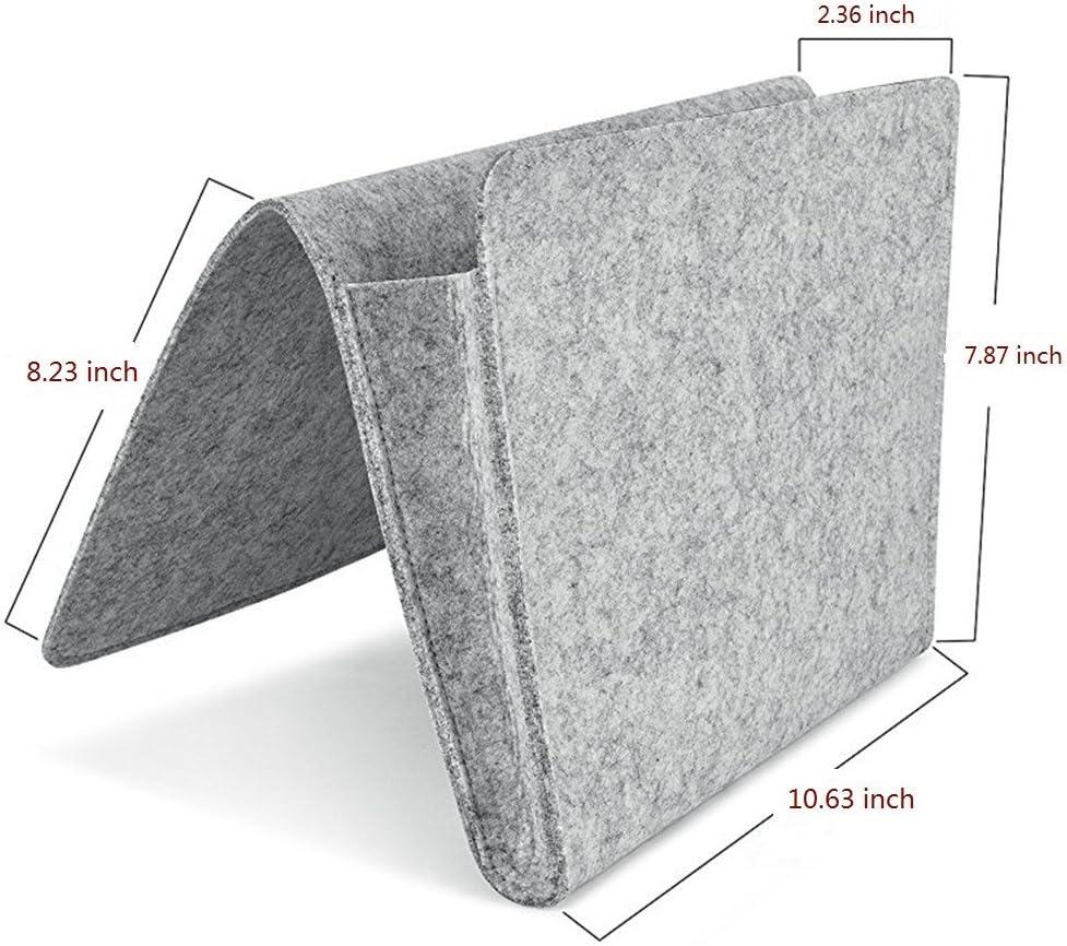 Betttaschen Hängeaufbewahrung für Grau DoGeek Bettablage zum Einhängen
