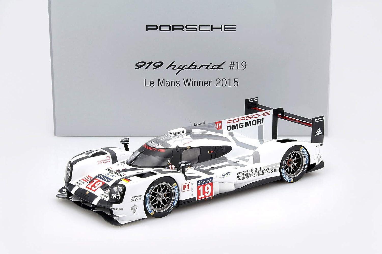 Modellauto 1:18 Porsche 919 Hybrid #19 Winner 24h LeMans 2015 Spark