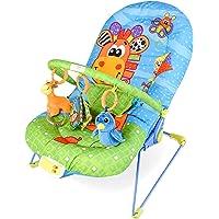 DREAMADE Babywippe mit Musik und Vibration, Baby Schaukelwippe verstellbar, Babyschaukel Babywiege, Babyliegestuhl Baby Schlafkorb Babysitz, max.11 kg beslatbar
