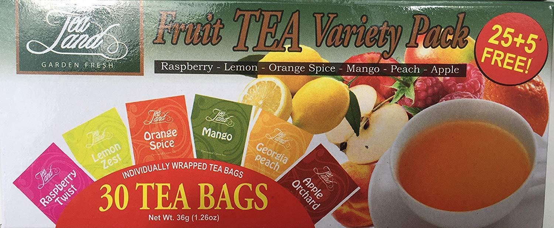 Tea Land Garden Fresh Fruit Green Tea Variety Pack (30 tea bags)