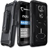 COVRWARE Moto E5 Plus / E5 Supra / G7 Power Case, [Aegis Series ] Case with Built-in [Screen Protector] Heavy Duty Full-Body