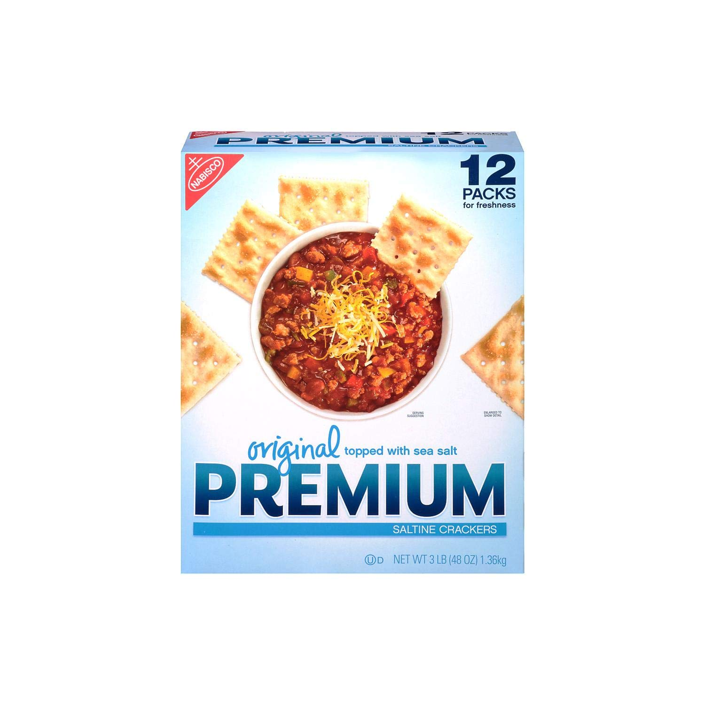 Nabisco Original Premium Saltine Crackers Topped with Sea Salt, 3 Pound by NABISCO