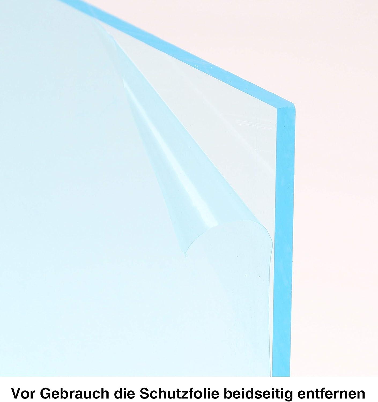 En d/écoupe Verre acrylique transparent Lamin/é des 2 c/ôt/és /Épaisseur de 4/mm R/ésistant aux UV