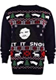 SA Fashions Season Game of Thrones Jon Santa Let It Snow Ladies Mens Winter is HERE Novelty Vintage Xmas Knitted Jumper Sweater TOP 8-18
