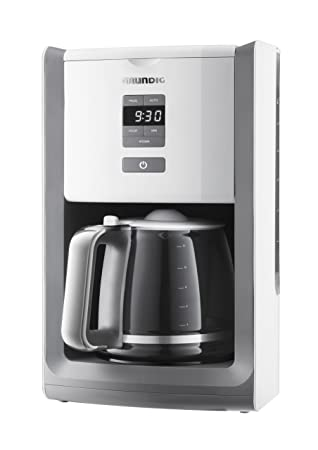 Grundig KM 7280 W - Cafetera (Independiente, Acero inoxidable, Color blanco, Goteo, De café molido, Café, 1,8L): Amazon.es: Hogar