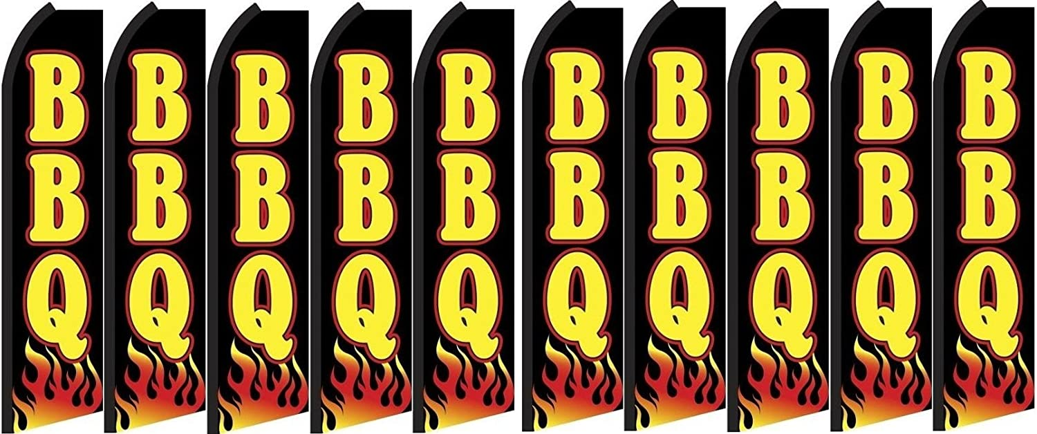 Pack of 10 Hardware not Included BBQ King Swooper Feather Flag Sign