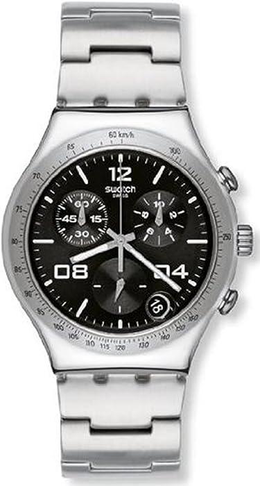 Swatch Blustery Black Womens Chronograph Watch - YCS564G