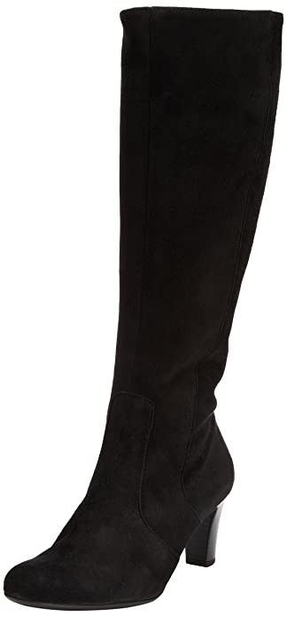 Gabor Maybe Med S, Boots femme - Noir (Black Suede (Micro)), 37 EU