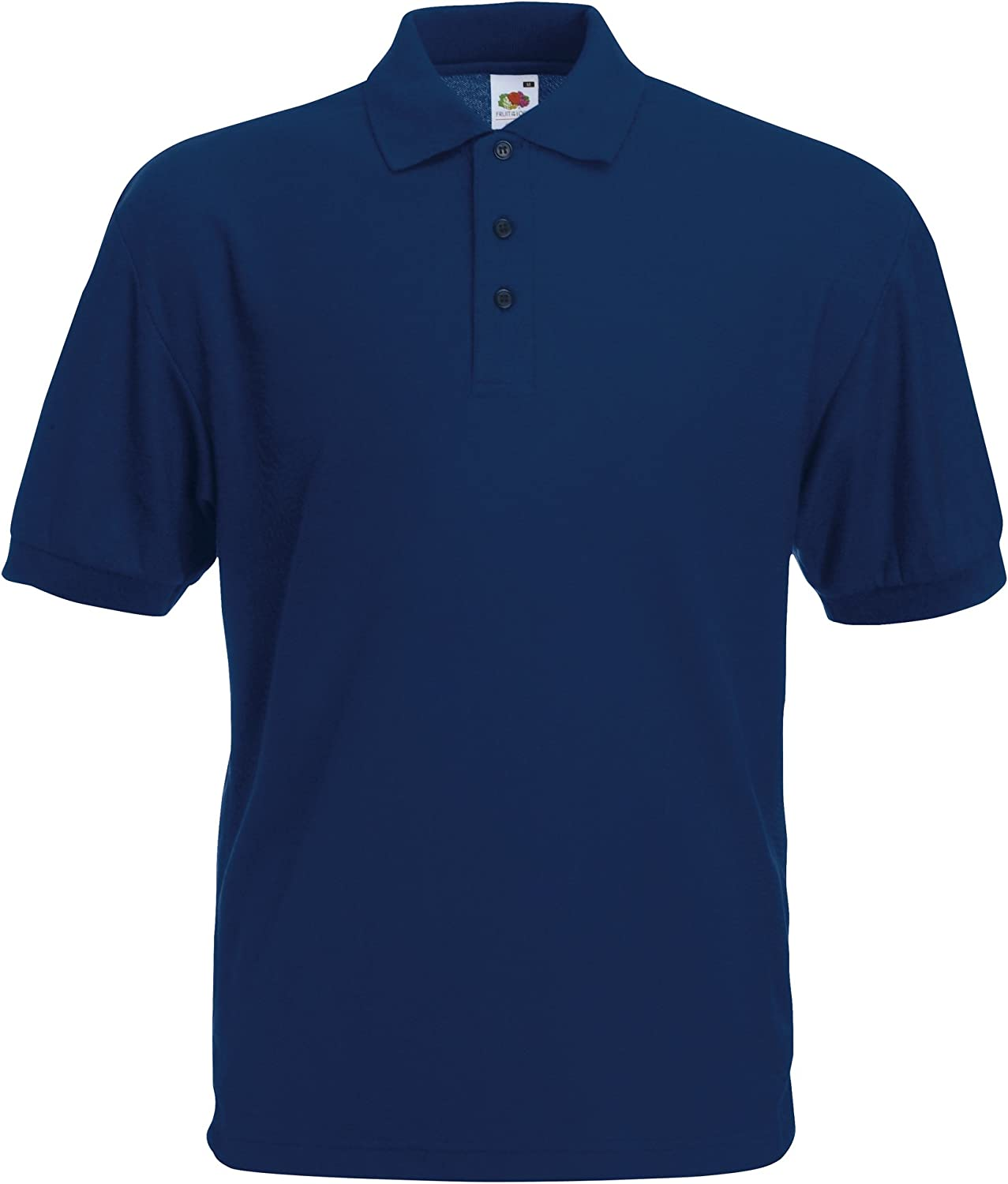 Fruit of the Loom Mens 65//35 Pique Polo Regular Fit Short Sleeve Polo Shirt