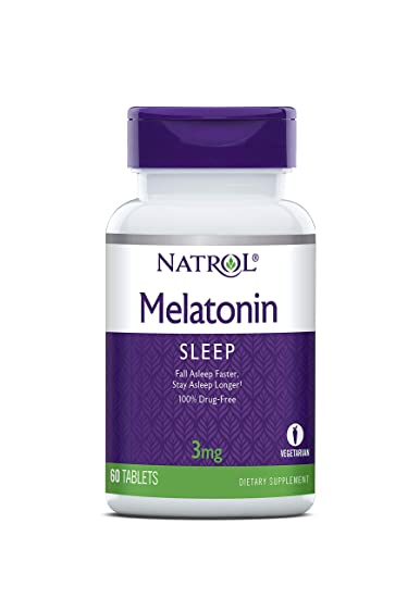 Natrol Melatonin Tablets 3mg, 60 Tablet Bottle
