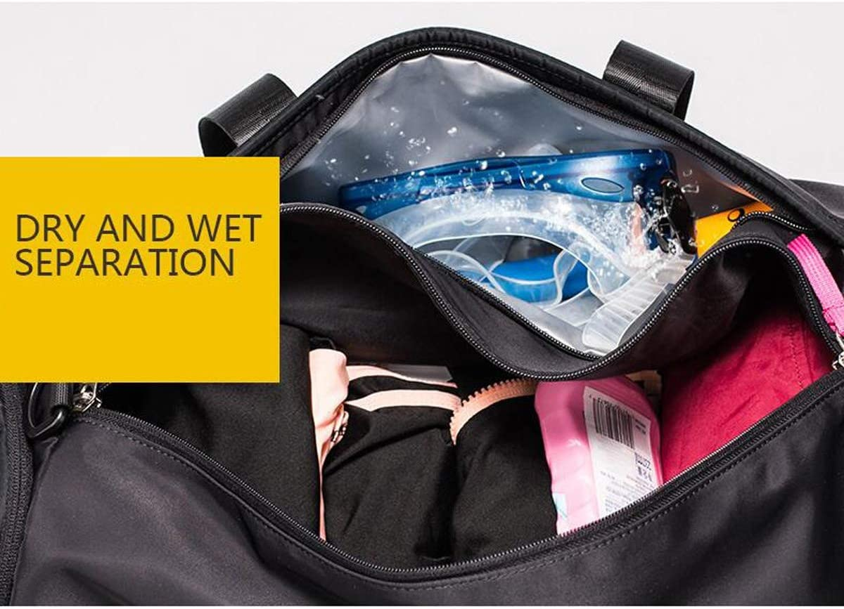 Large Capacity Fitness Bag Aishanghuayi Sports Bag Single Shoulder Diagonal Travel Bag Mens Tide Training Yoga Bag Wet and Dry Separation Swimming Bag Large Size: 502425cm Durable