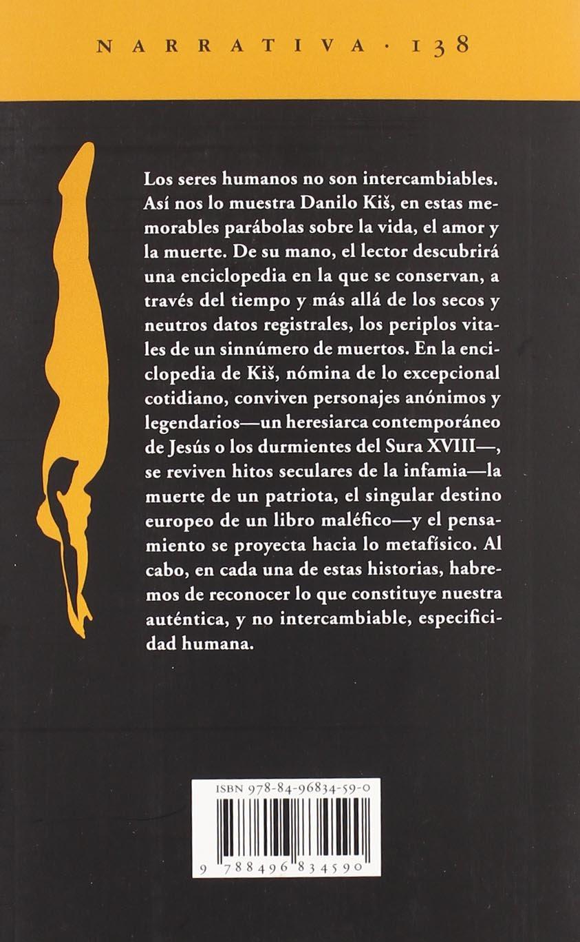 Enciclopedia de los muertos Narrativa del Acantilado: Amazon.es: Danilo  Kis, Nevenka Vasiljevic: Libros