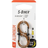 Nite Ize LSBA2-29BG-R6 S-Biner SlideLock Aluminum Dual Locking Carabiner, Size #2, Coyote