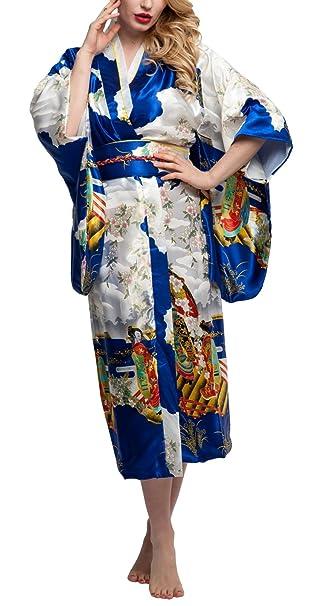 Amazon.com: Kimono Albornoz Palace Mujer Yukata kimono ...