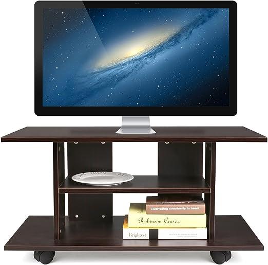 HOMFA Mueble tv móvil Mueble de comedor tv moderno mesa para tv ...