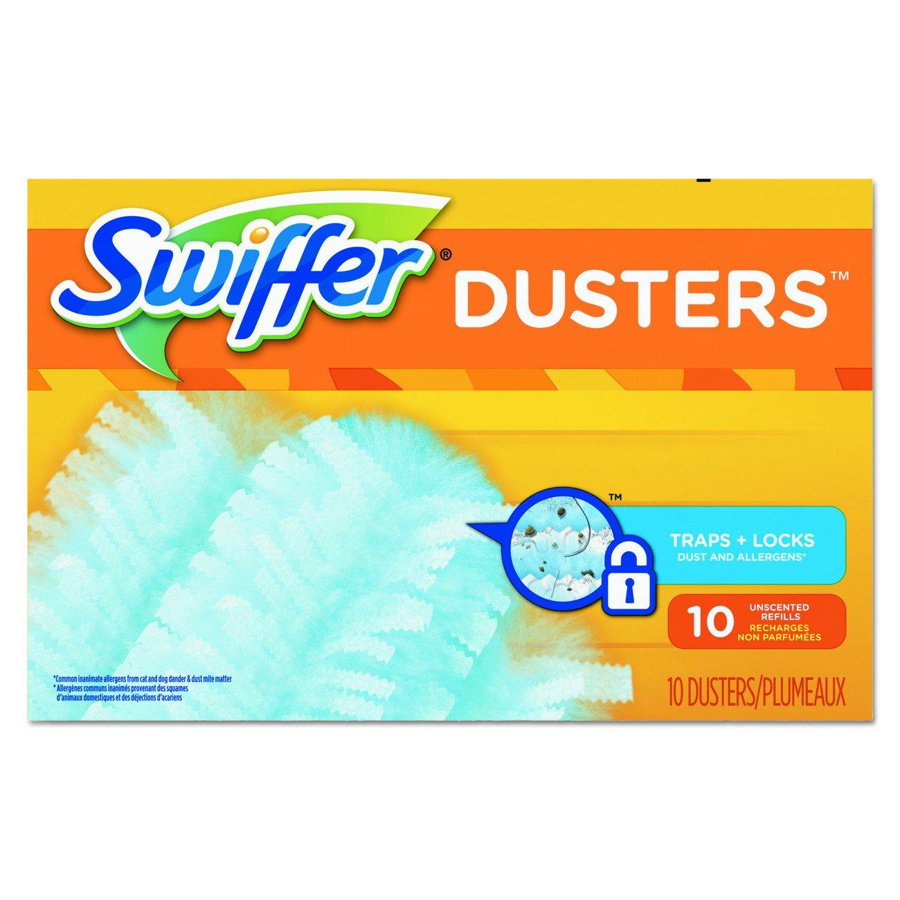 Swiffer PGC 21459CT 21459 Refill Duster, Dust Lock Fiber, Unscented, Light Blue (Pack of 40)