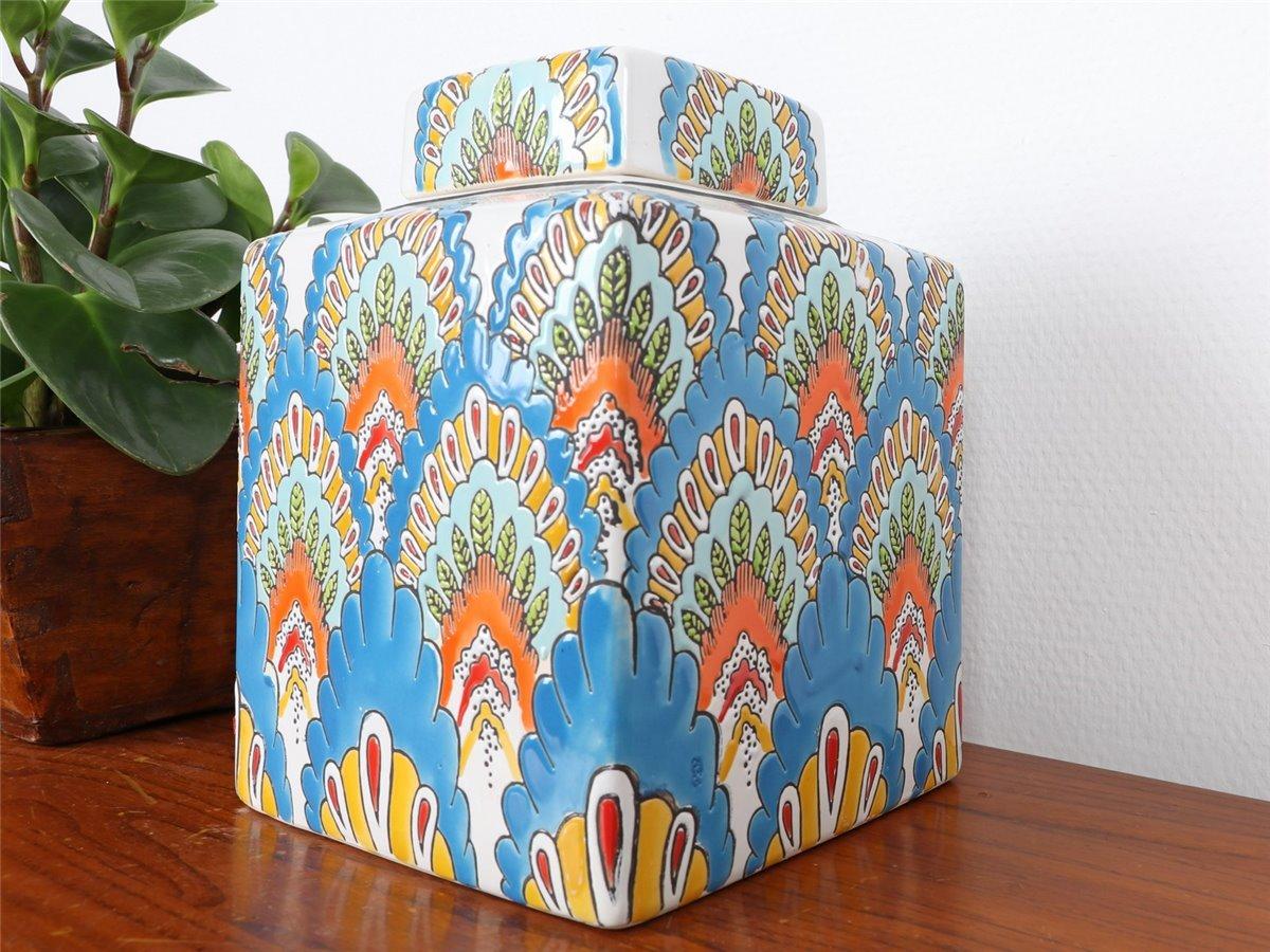 Internationale Antiq. & Kunst Vase Porzellan Deckelvase Ingwergefäß Ginger Jar China 21cm P0138 Asiatika: China