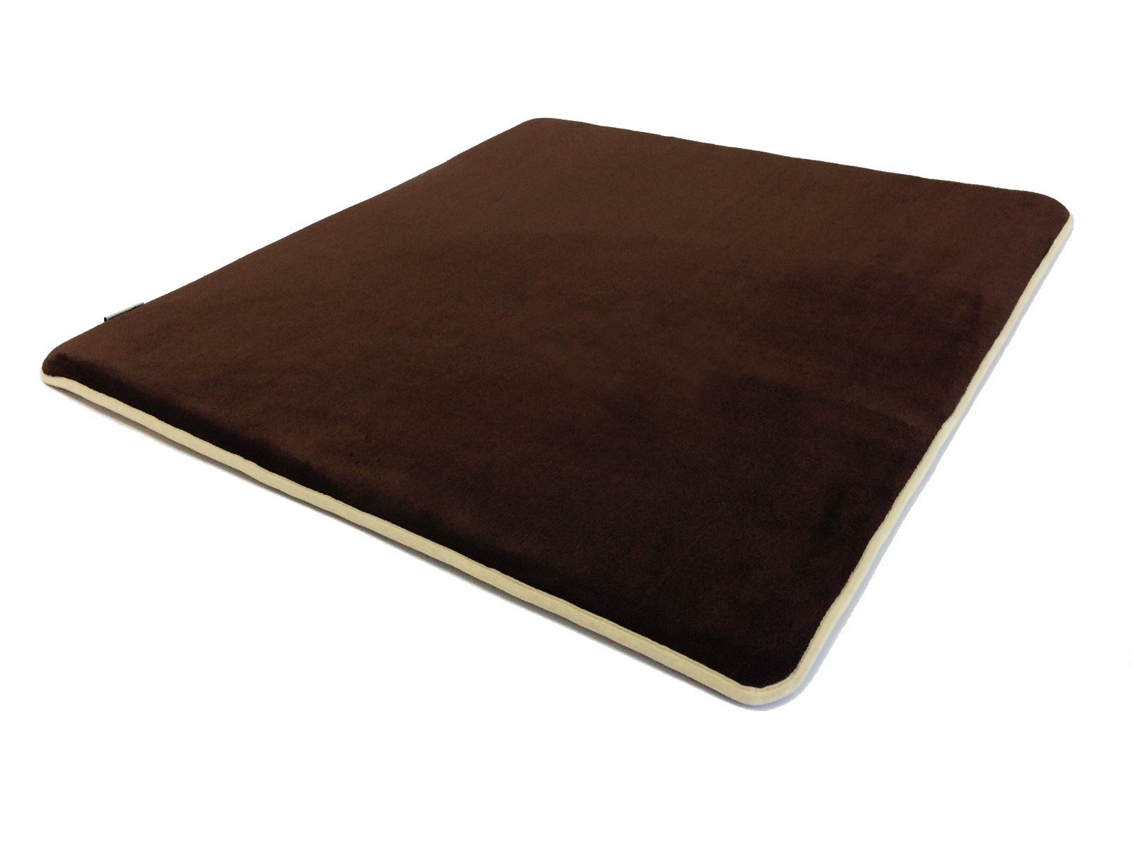 40''x35''x1.25'' Memory Foam Coral Fleece Standard Mat Bed with Waterproof Anti Slip Bottom for Puppies and Dogs of all sizes: Small, Medium and Large (Brown)