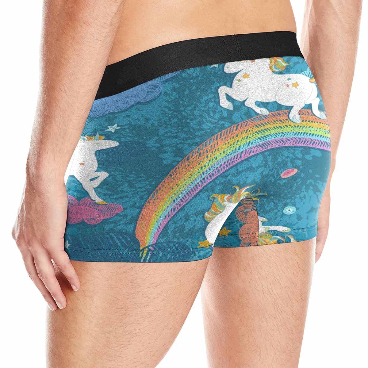 INTERESTPRINT Mens Boxer Briefs Underwear Patterns with Cute Baby Unicorns XS-3XL