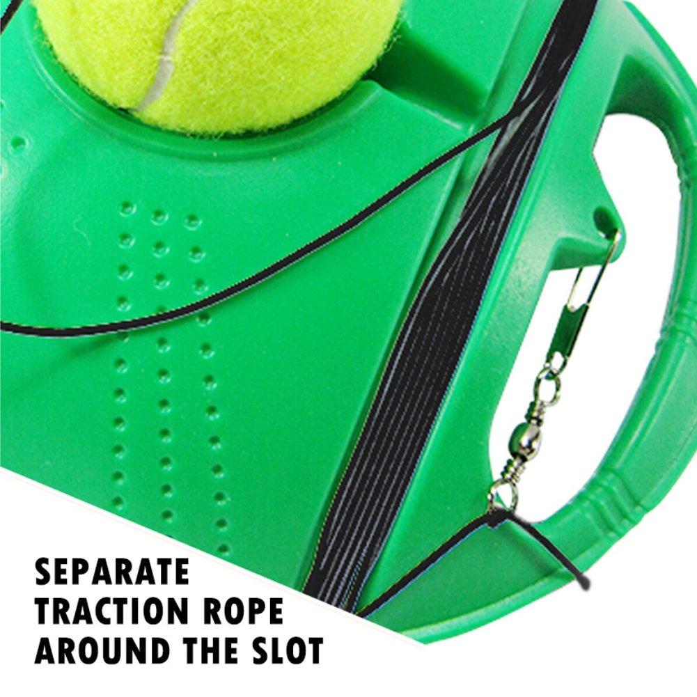 Entrenador de tenis de calidad. Con rebote pelota de tenis ...