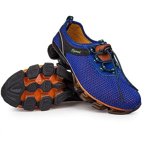 GLSHI Lovers Sneakers Uomo Mesh Scarpe da corsa traspiranti Scarpe da ginnastica di grandi dimensioni unisex Scarpe da trekking per esterni (Colore : UN, Dimensione : 46)