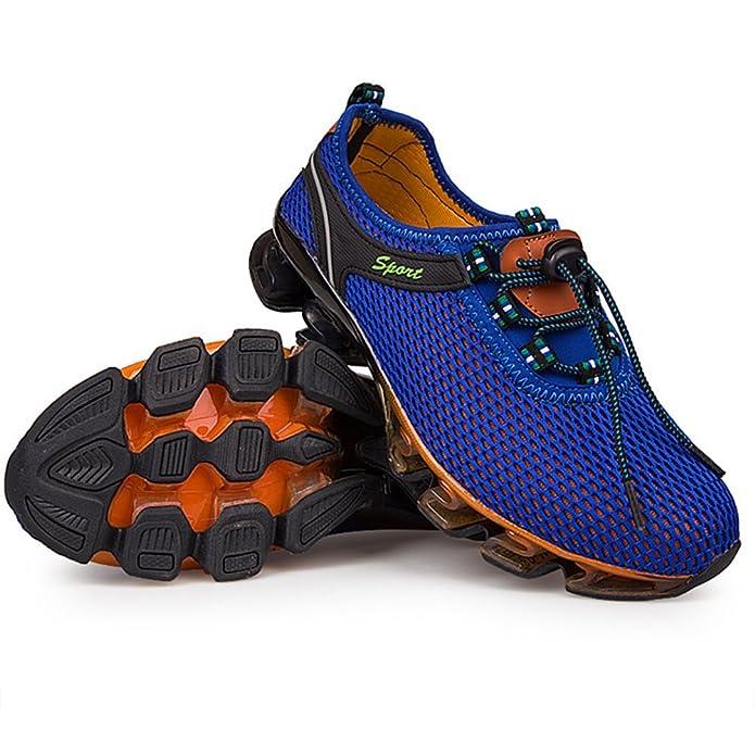 HUAN Lovers Sneakers Uomo Mesh Scarpe da Corsa Traspiranti Scarpe da Ginnastica di Grandi Dimensioni Unisex Scarpe da Trekking per Esterni (Color : D, Dimensione : 38)