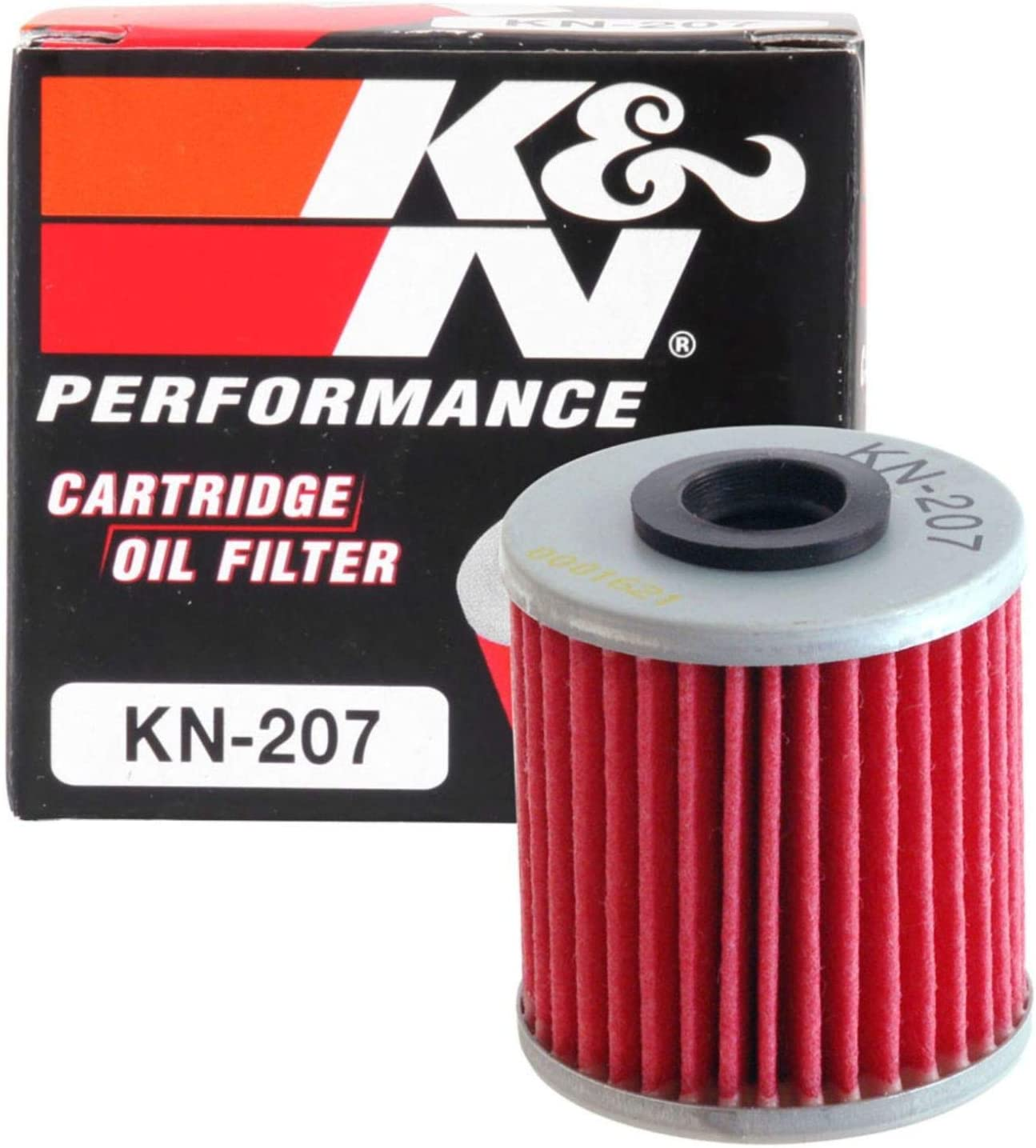 K&N Motorcycle Oil Filter: High Performance, Premium, Designed to be used with Synthetic or Conventional Oils: Fits Select Kawasaki, Suzuki, Beta Vehicles, KN-207