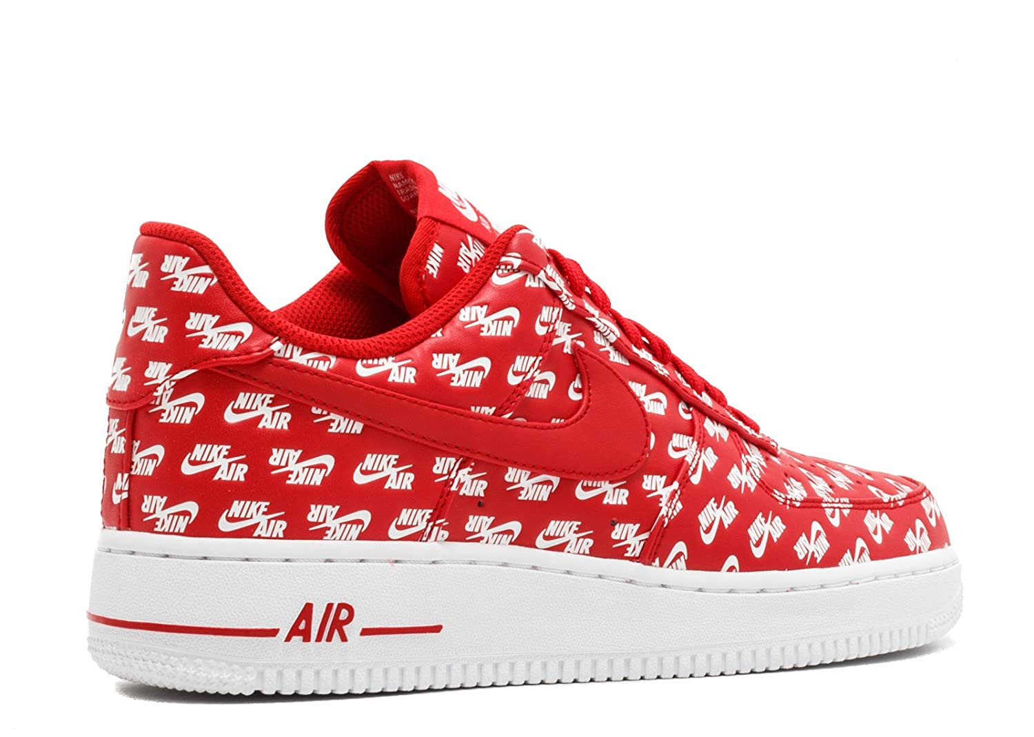 fff3d7865 Nike Men s Air Force 1 Low  07 QS Logo Pack Red White (9. 5 D(M) US)  Buy  Online at Low Prices in India - Amazon.in