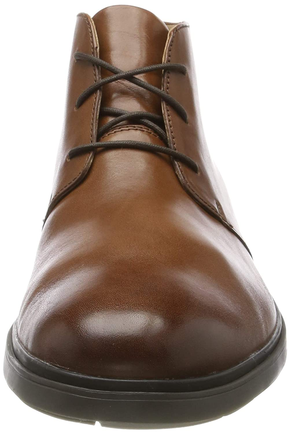 46 EU Botas Chukka para Hombre Tan Leather Tan Leather Marr/ón Clarks Un Tailor Mid