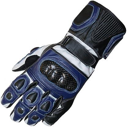 German Wear Motorradhandschuhe Motorrad Biker Handschue Lederhandschuhe In 3x Farben Größe 7 S Farbe Blau Auto