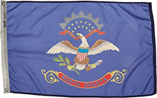 product image for Annin Flagmakers Model 144150 North Dakota Flag Nylon SolarGuard NYL-Glo, 2x3 ft, 100% Made in USA to Official State Design Specifications