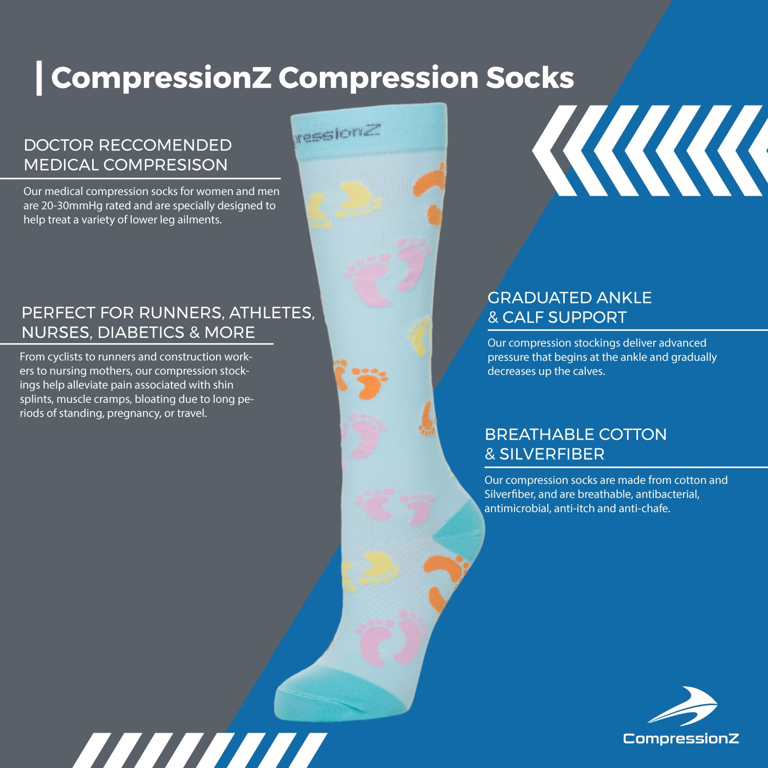 Patterned Compression Socks New Decorating Ideas