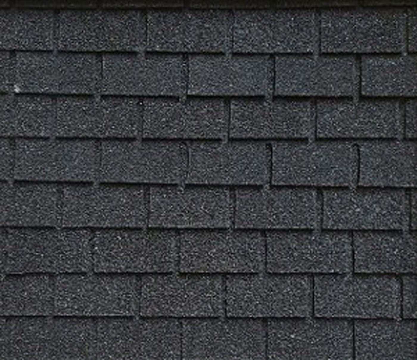 Dollhouse Miniature Roofing Black Square Asphalt Shingles