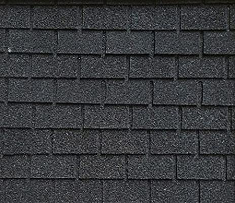 Dollhouse Miniature Roofing Black Square Asphalt Shingles